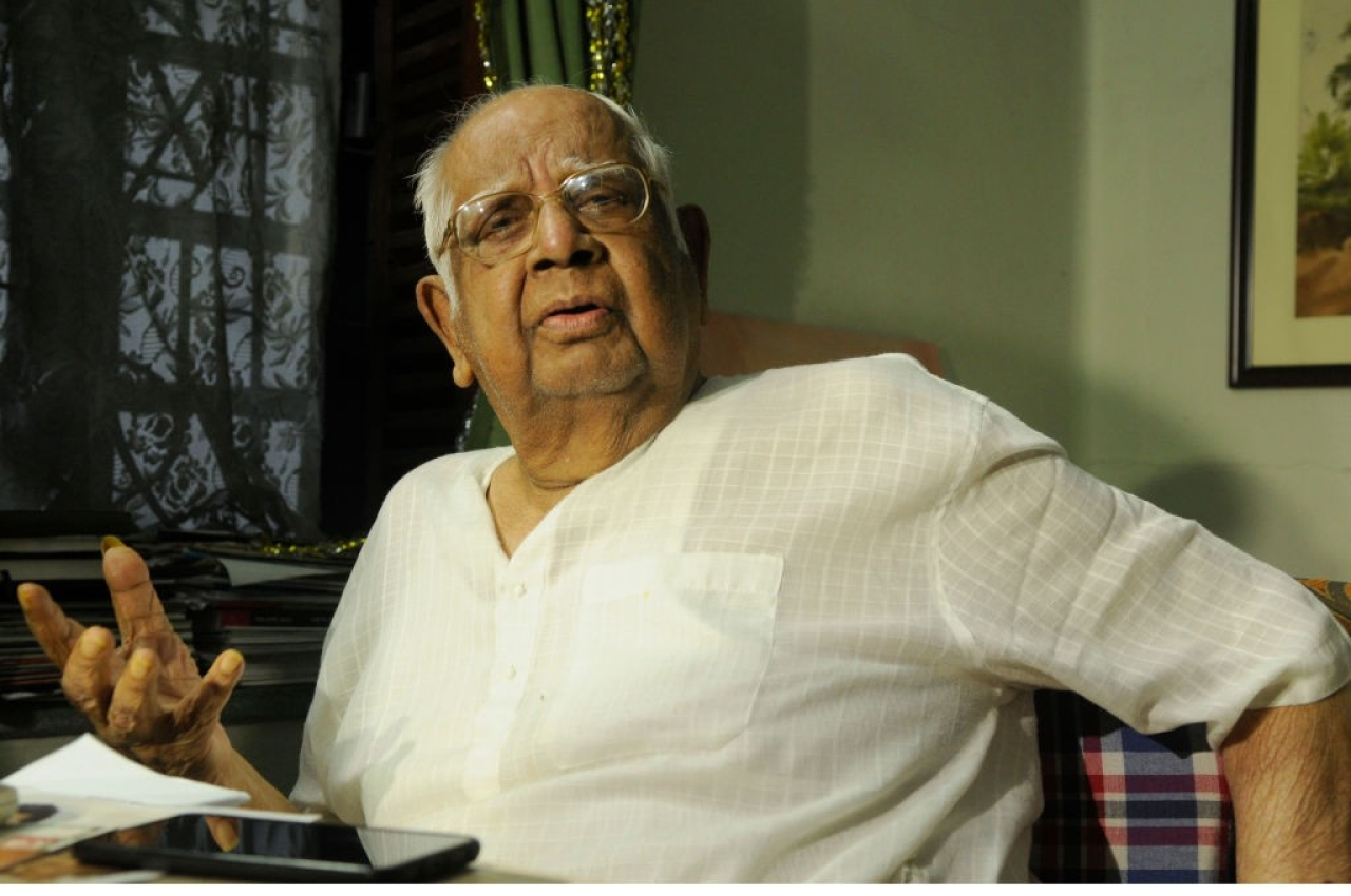 The late speaker of the Lok Sabha Somnath Chatterjee. (Samir Jana/ Hindustan Times via GettyImages)