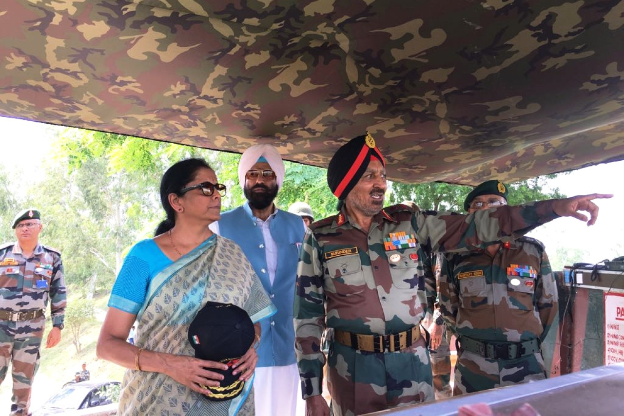 Defence Minister Nirmala Sitharaman dedicates strategically important 250 feet long historic bridge at Hussainiwala, Punjab to the nation.
