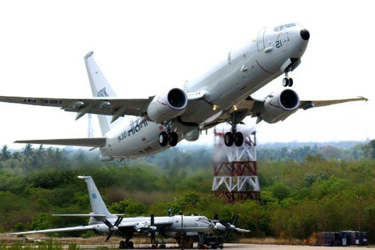 P-8I aircraft of the Indian Navy, manufactured by Boeing. (Indian Navy/Twitter)
