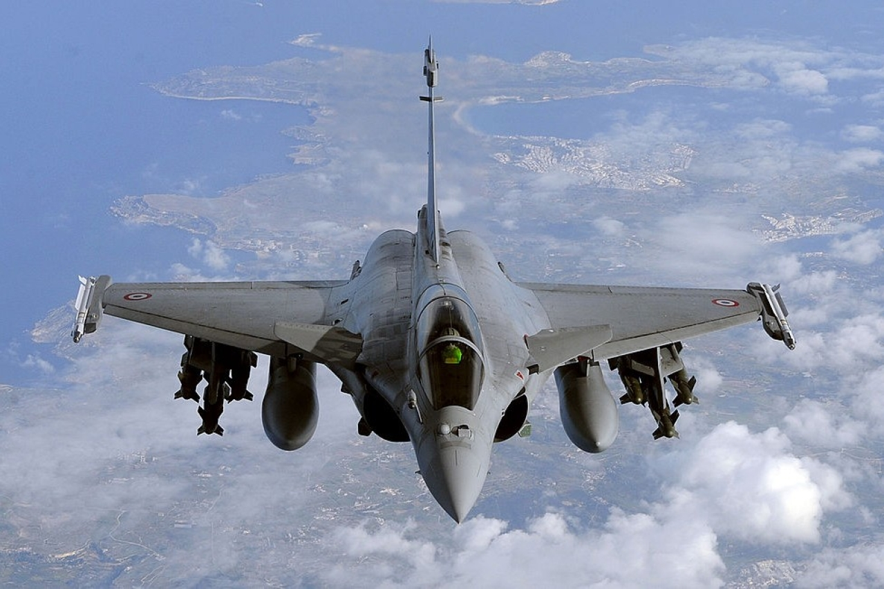 A French Rafale fighter jet from the Istres military airbase (GERARD JULIEN/AFP/GettyImages)