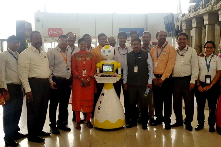 AAI Introduces Autonomous Robots At Chennai Airport To Greet Passengers And Answer Queries