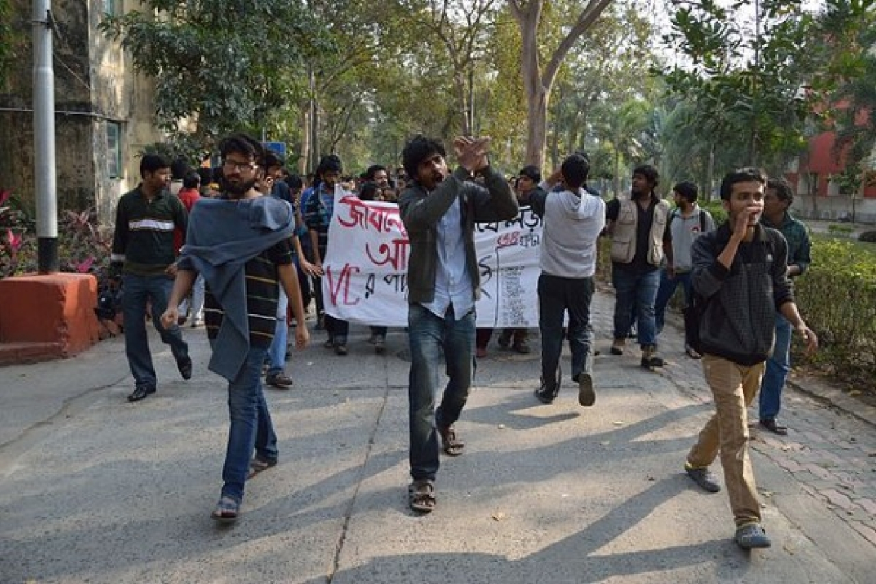 Representational image of a student protest. (Biswarup Ganguly/Wikimedia Commons)