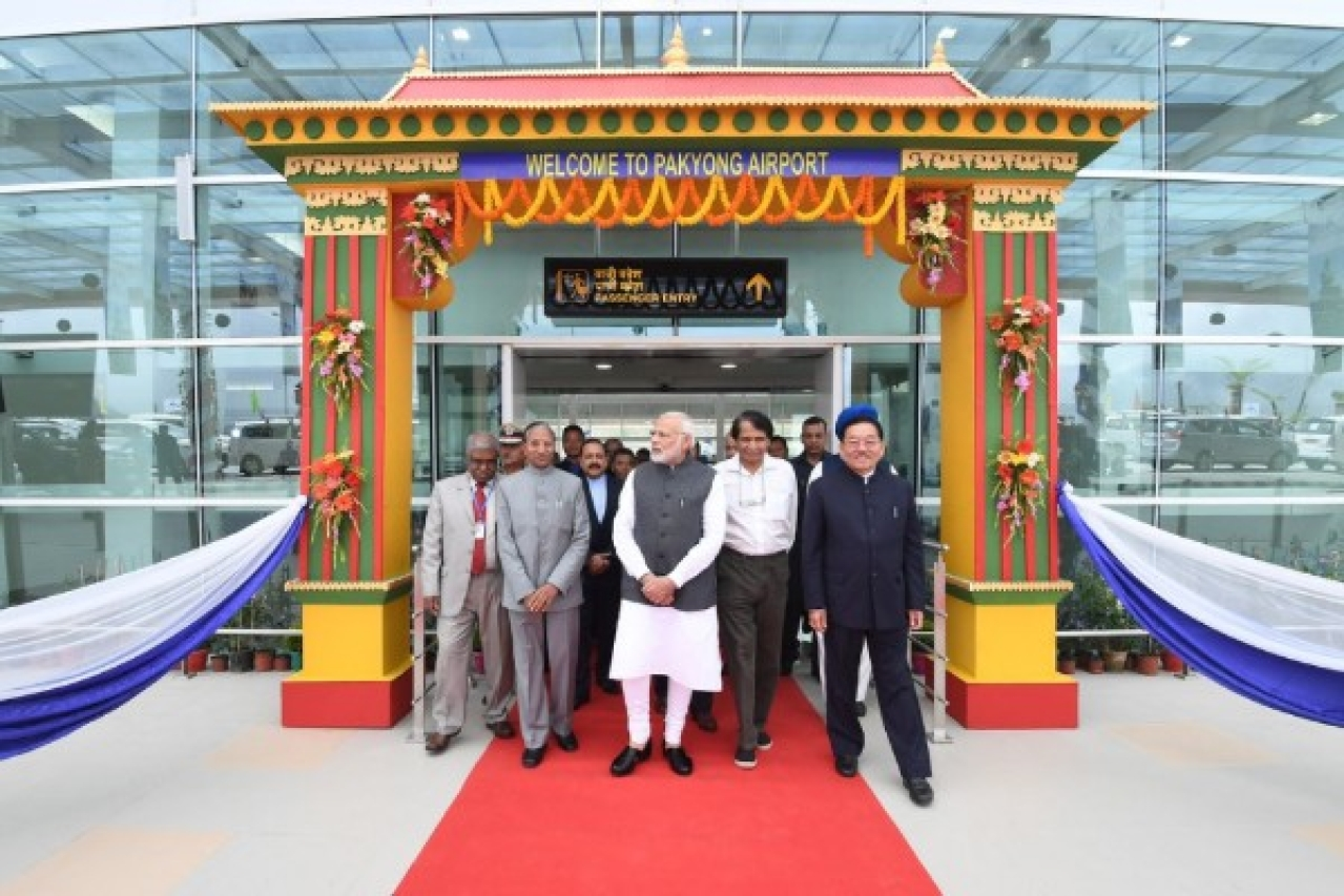 Prime Minister Narendra Modi inaugurated the airport in Sikkim on 24 September 2018. (Narendra Modi/Twitter)