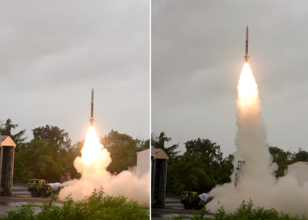India Successfully Test Fires Short Range, Quick Reaction Prahaar Missile Amid Heavy Rain