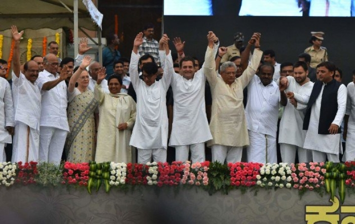 Modi's BJP On The Road To Absolute Majority Exactly A Year After 'United Opposition' Posed For This Photo