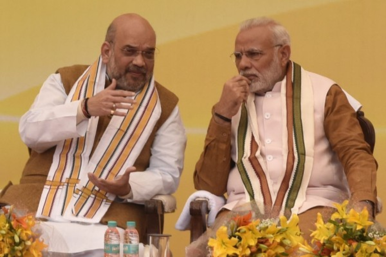 Prime Minister of India Narendra Modi and BJP National President Amit Shah (Sonu Mehta/Hindustan Times via Getty Images)