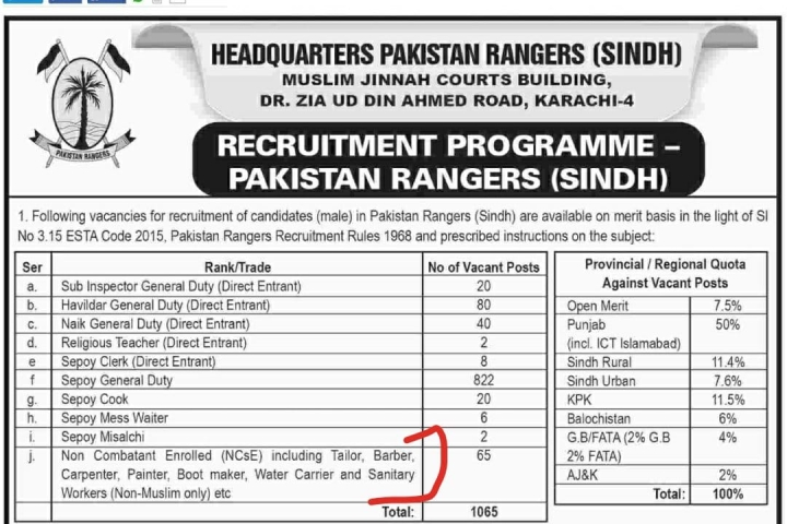 "Land Of The Pure? Pakistan Army Advertisement Reserves Sanitation Job For ""Non-Muslims Only"", Sparks Row"