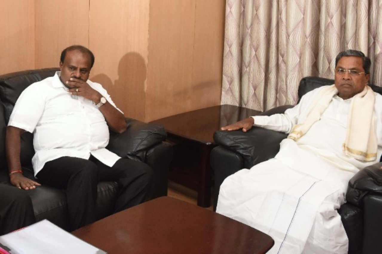 It is believed that Siddaramaiah is being used as a weapon by the Congress high command to keep H D Kumaraswamy in check. (Arijit Sen/Hindustan Times via Getty Images)