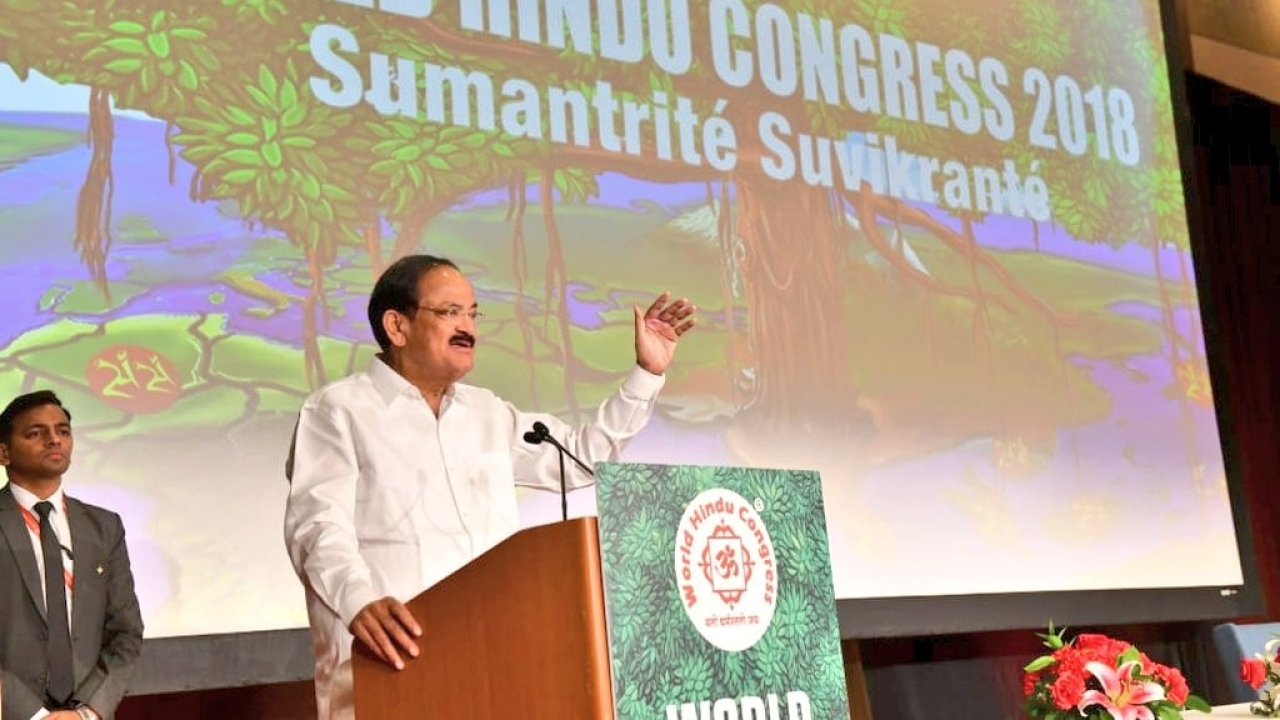 VP Venkaiah Naidu At World Hindu Congress: Some People Are Trying To Make Hinduism 'Untouchable' And 'Intolerable'