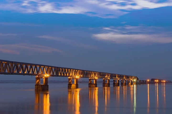 Work On India's Longest Rail-Road Bridge, Connecting Arunachal And Assam, Nears Completion