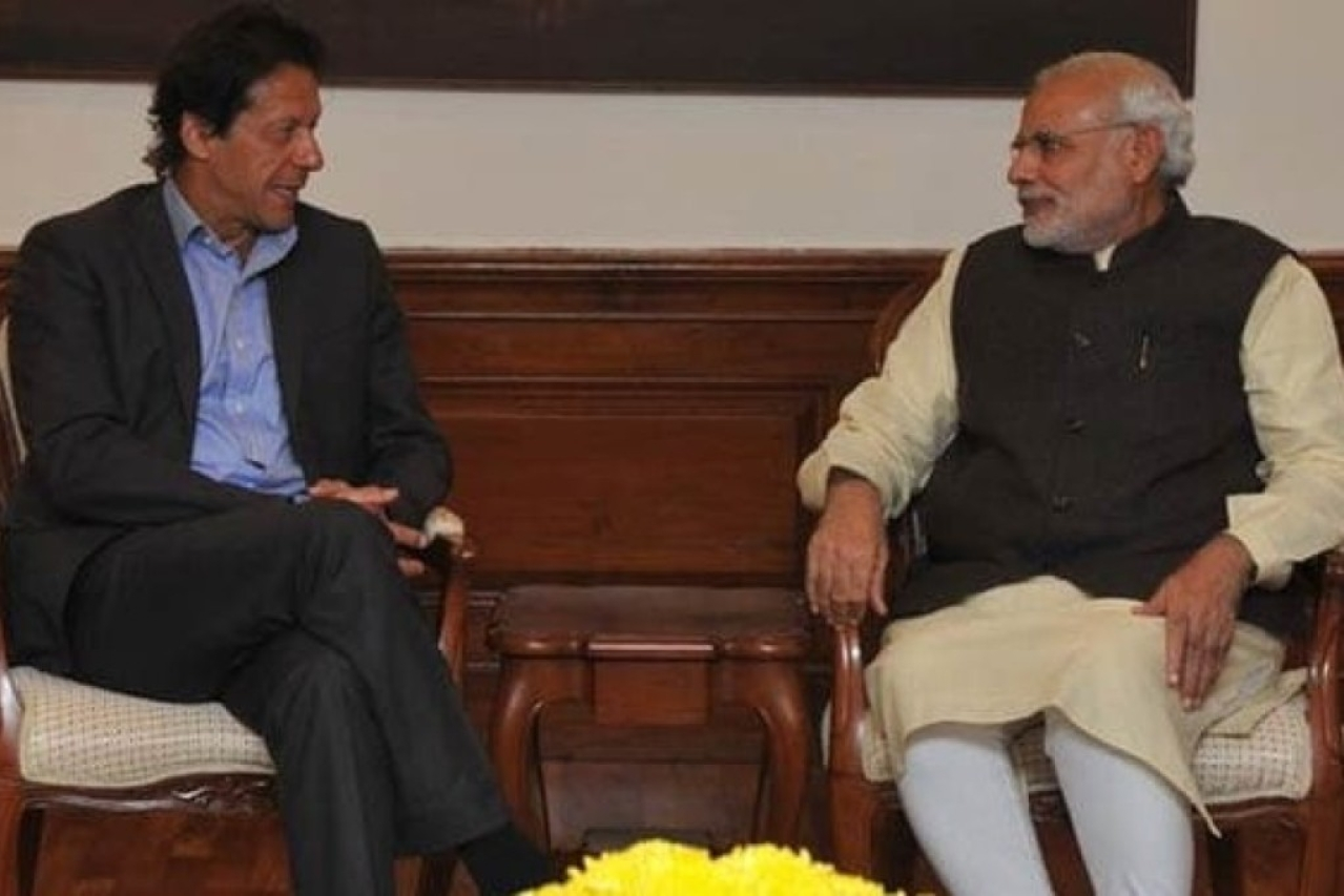 Prime Minister Narendra Modi with  Imran Khan. (Ministry of External Affairs/Twitter)