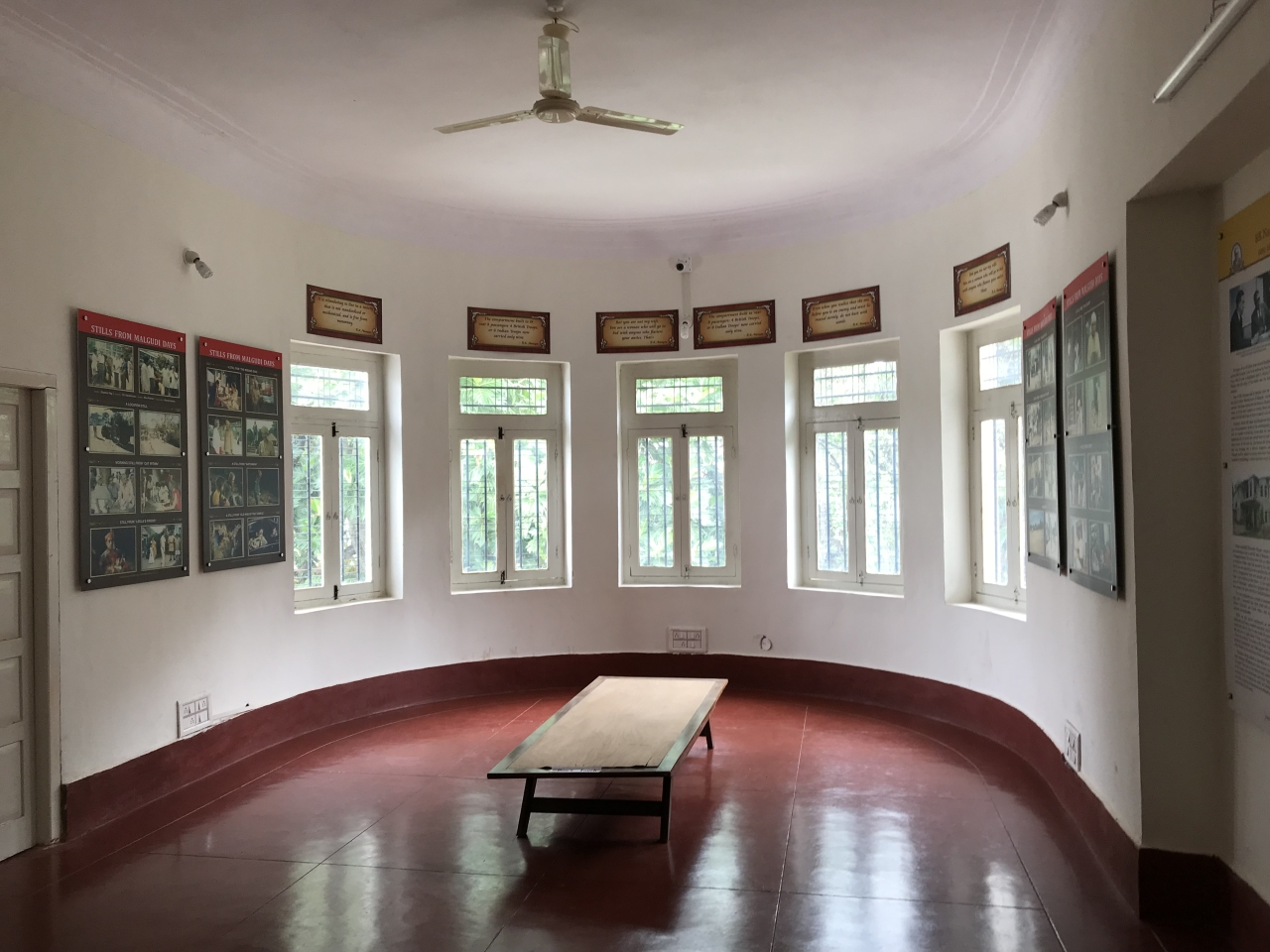 R K Narayan's writing room and writing table