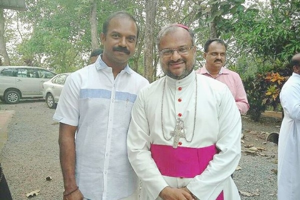 Garlanded And Showered With Flowers: Rape Accused Bishop Franco Mulakkal Gets Grand Welcome In Jalandhar