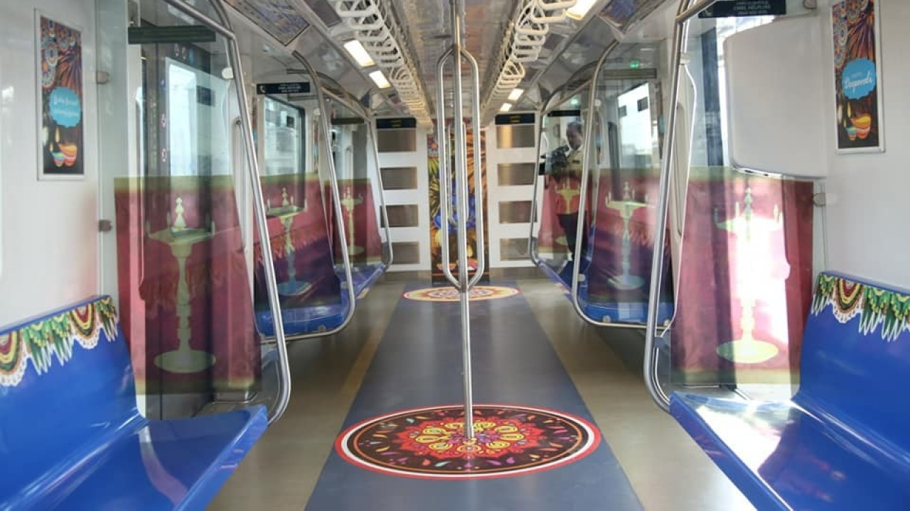 Deepavali Surprise For Chennai Metro Goers: Trains Decorated To Usher In 'The Festival Of Lights'