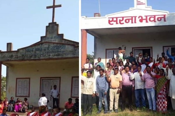 No Bible, Say Tribals: Cross Removed, Church Building On Tribal Land 'Rechristened' As Sarna Bhawan