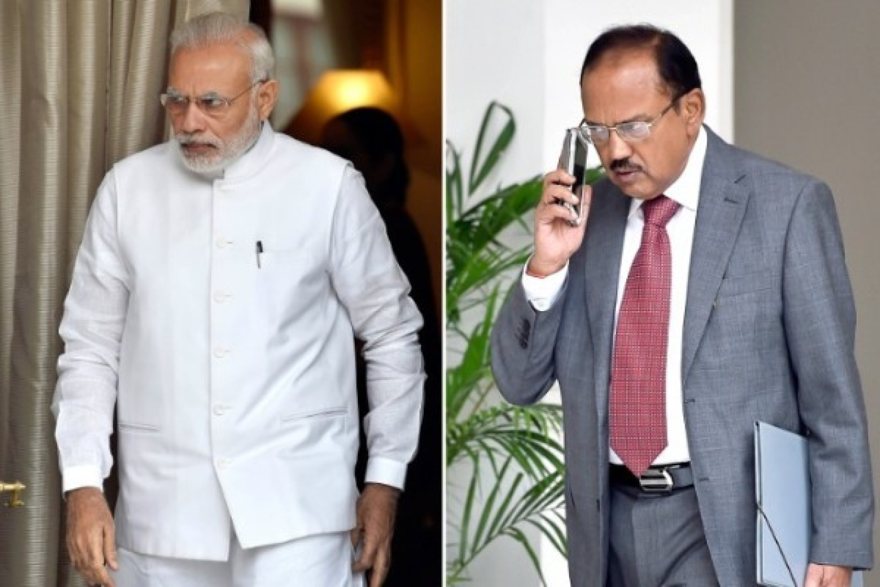 Prime Minister Narendra Modi and National Security Adviser Ajit Doval. (Ajay Aggarwal/Hindustan Times via Getty Images)