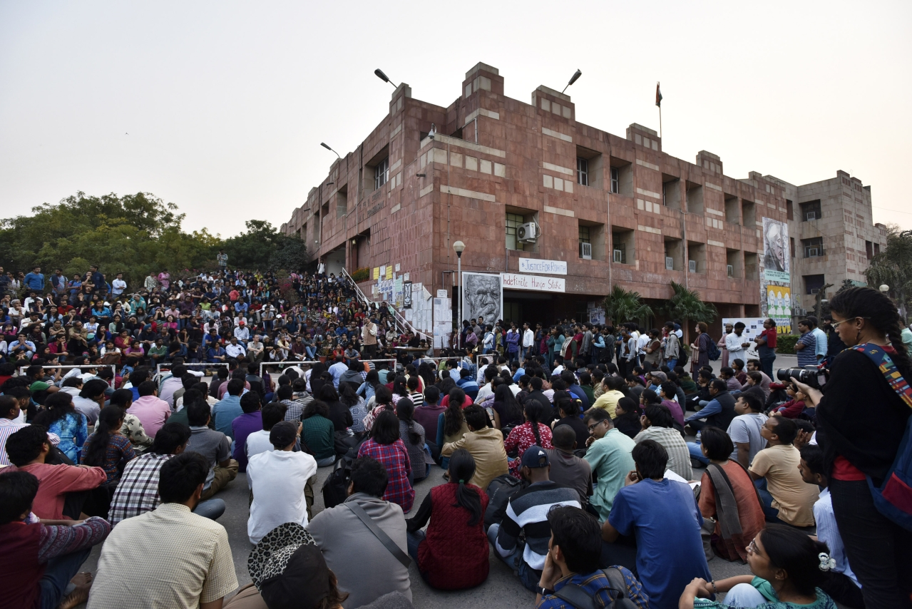 JNU Student Union VP Claims CRPF Deployed In Campus To Put Students Behind Bar, Administration Rejects Charge
