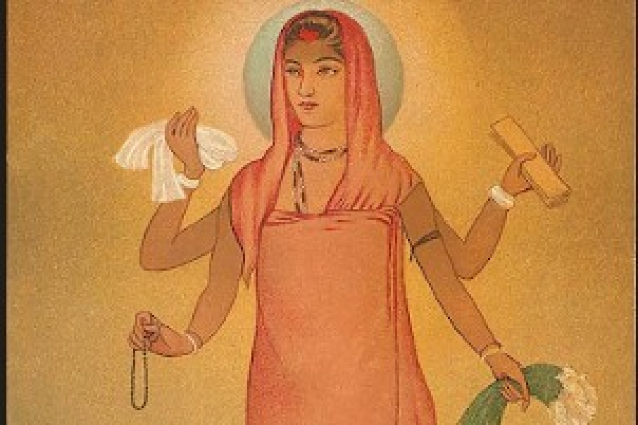 The goddess rose in the form of Bharat Mata