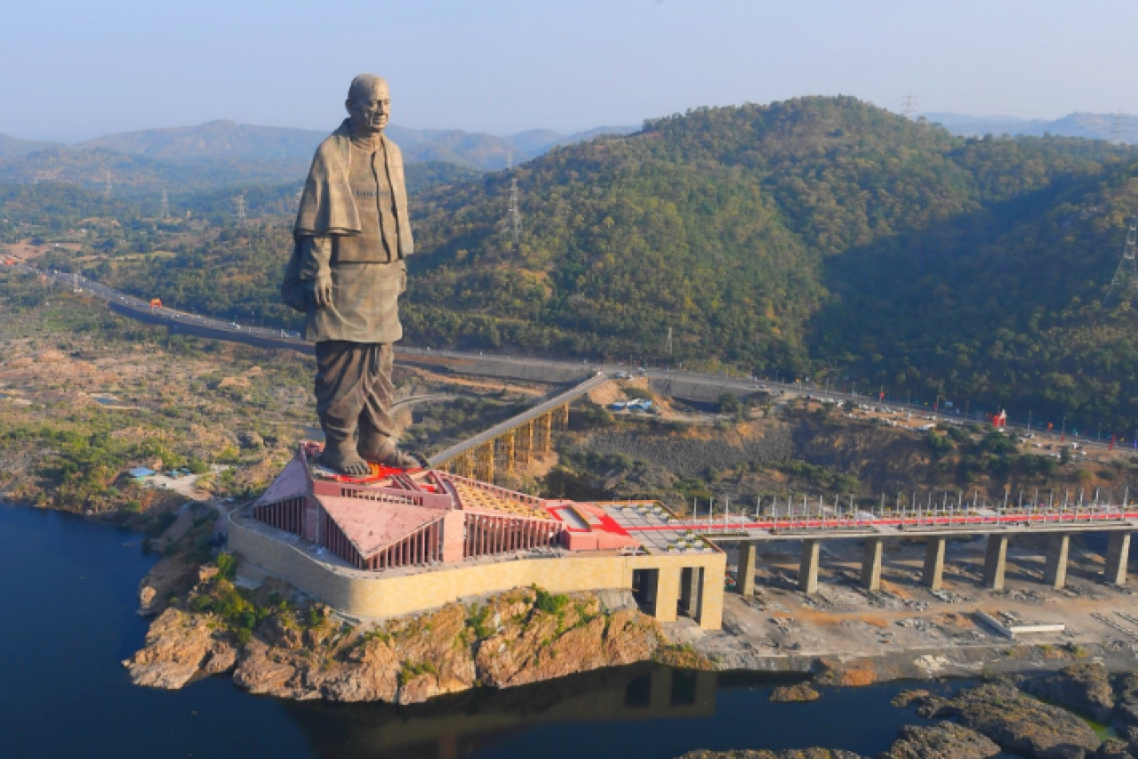 Watch: PM Modi Releases Spectacular Aerial Footage Of Statue Of Unity As He Tours Gujarat On His Birthday