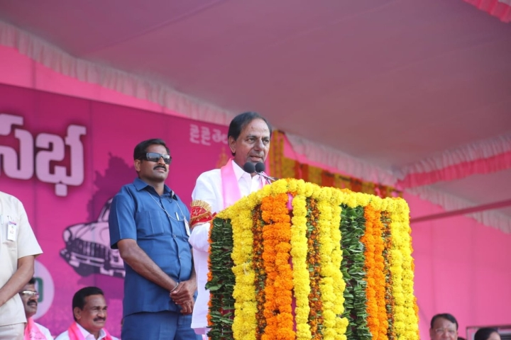"KCR Lambasts TDP As ""Thief"" And Congress As ""Shameless"", Asks People To Get Rid Of Them"