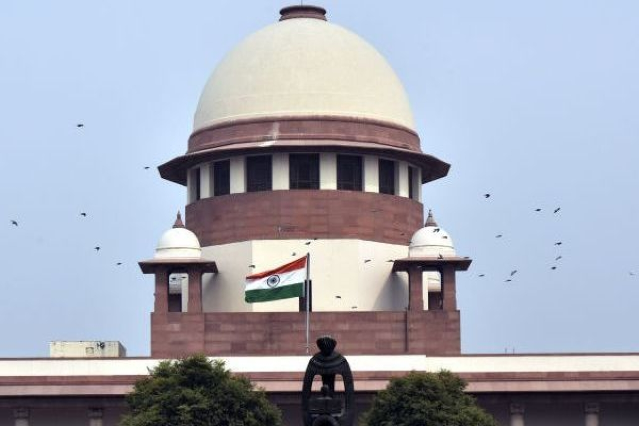 A view of the Supreme Court building  (Sonu Mehta/Hindustan Times via Getty Images)