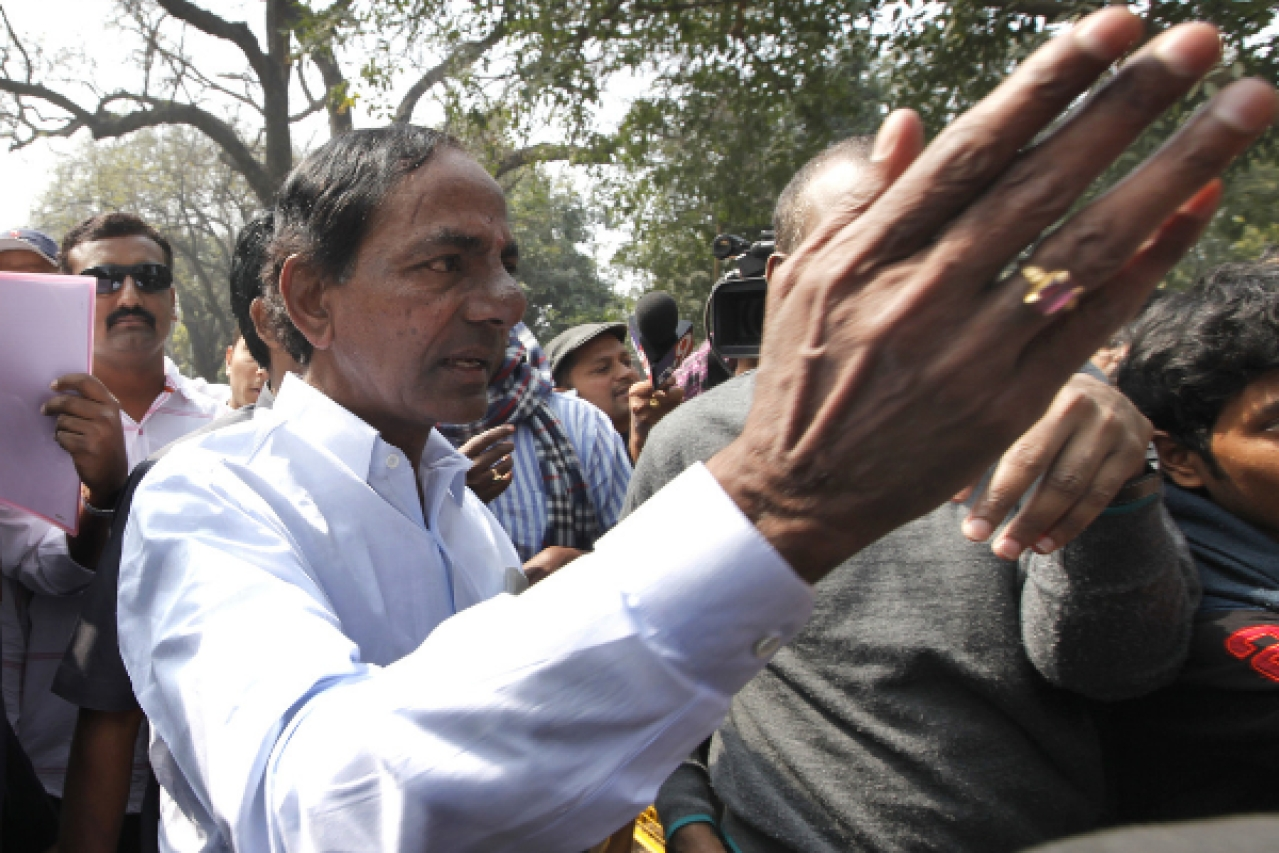 The core base of KCR's Telangana Rashtra Samithi is disappointed. (Arvind Yadav/Hindustan Times via Getty Images)
