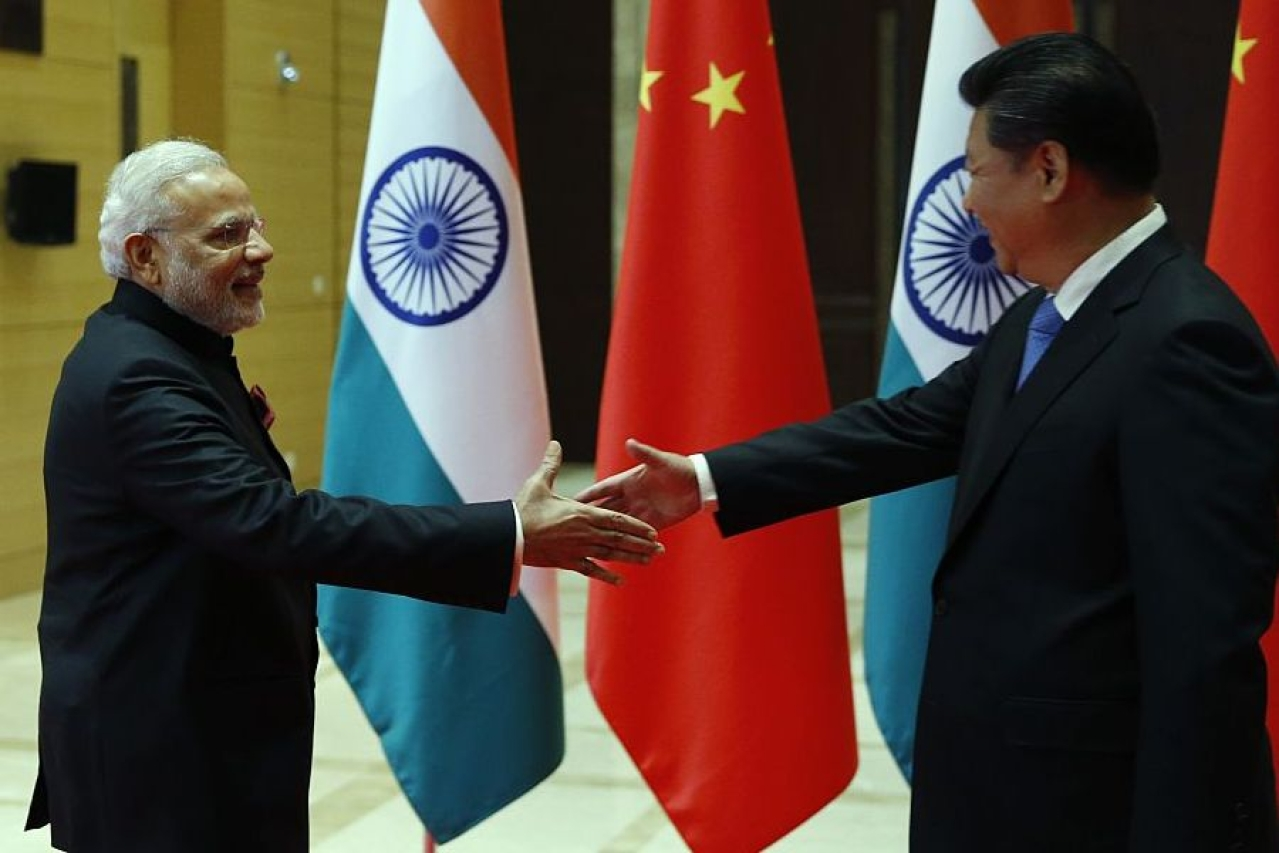 Prime Minister Narendra Modi meets Chinese President Xi Jinping  in Xian, Shaanxi province, China. (Kim Kyung-Hoon - Pool/GettyImages)