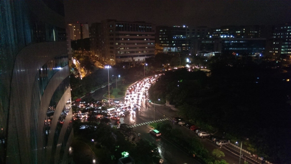 Traffic Chaos At Hyderabad's Mindspace Roundabout Leaves Commuters Seething