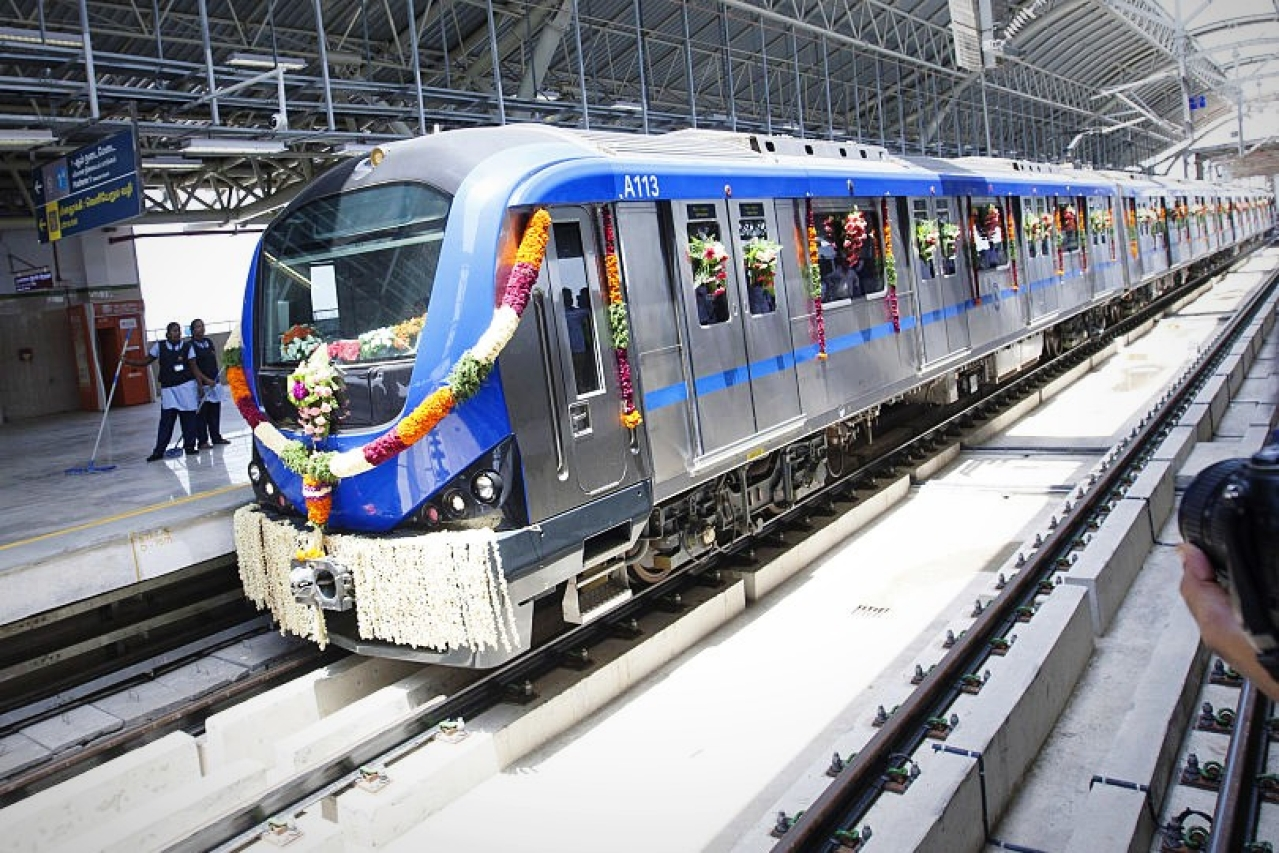 Metro's Chennai Central To Washermanpet and Chennai Central to AG