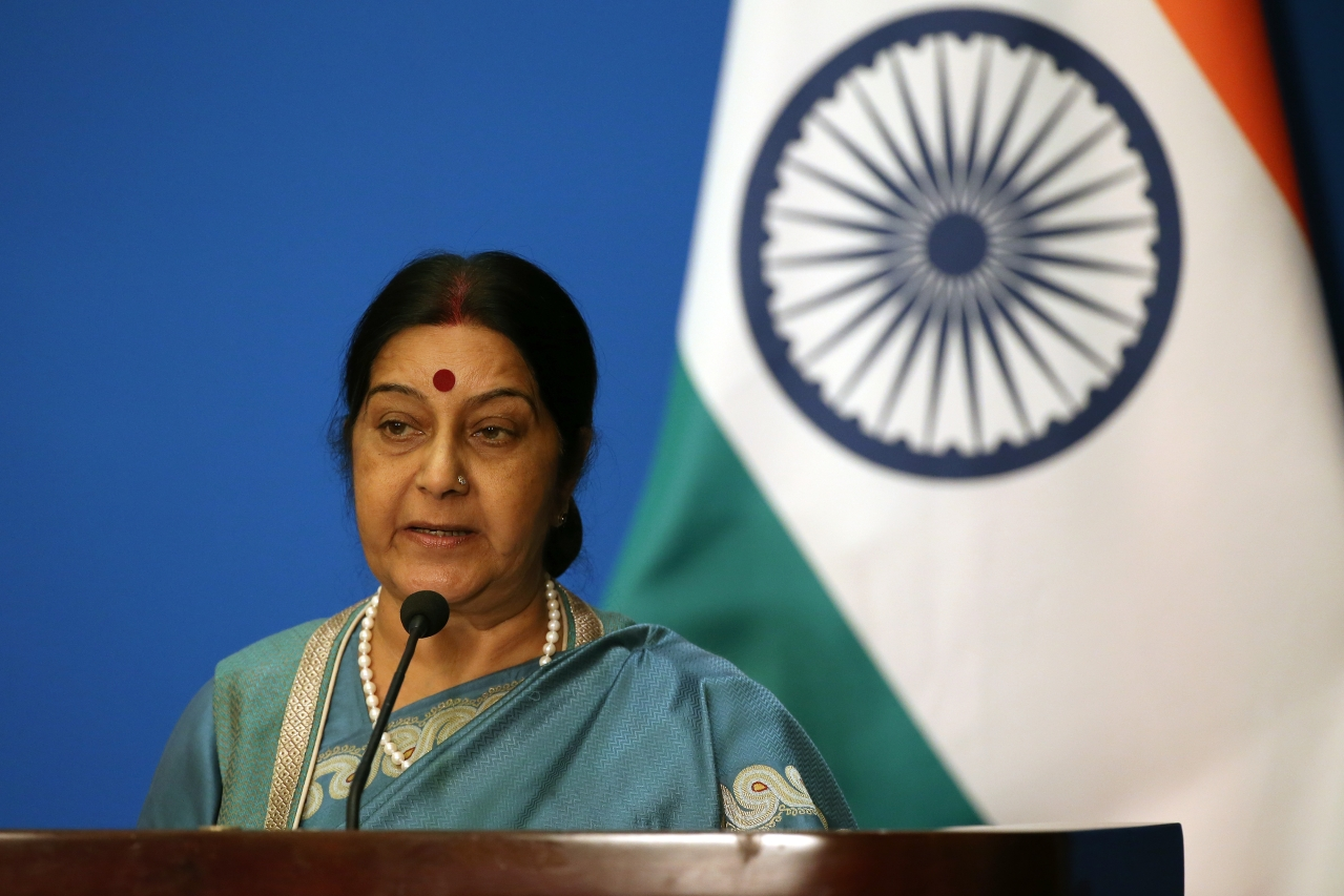 Foreign Minister Sushma Swaraj. (Wu Hong-Pool/GettyImages)