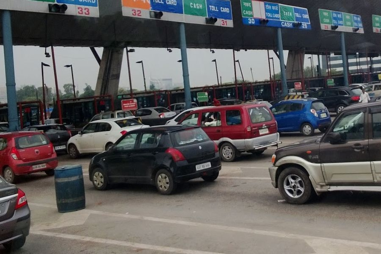A toll plaza