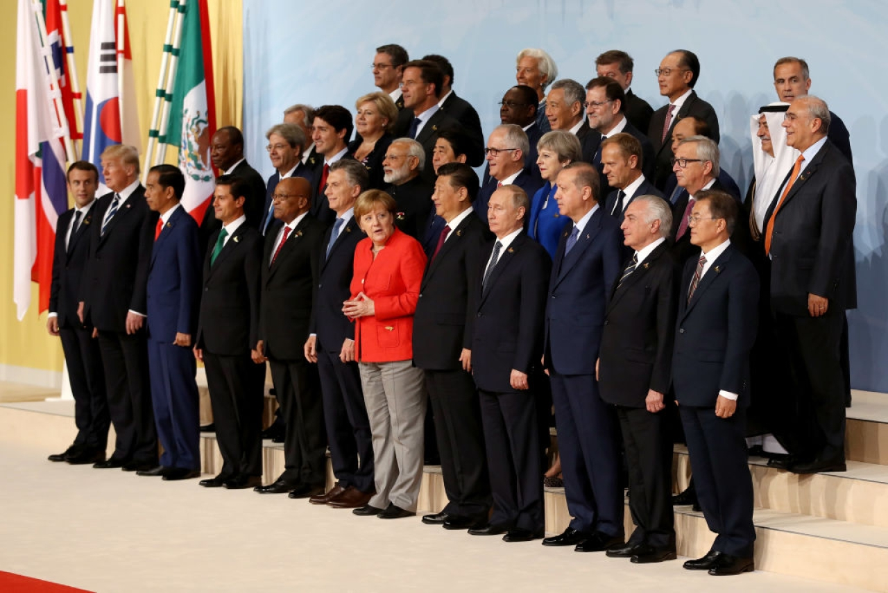 World leaders at G20 summit in Hamburg, Germany. (Matt Cardy/Getty Images)