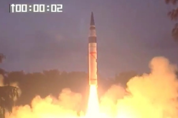 India Successfully Conducts Second Test Of Nuclear Capable Agni-5 Missile In Six Months