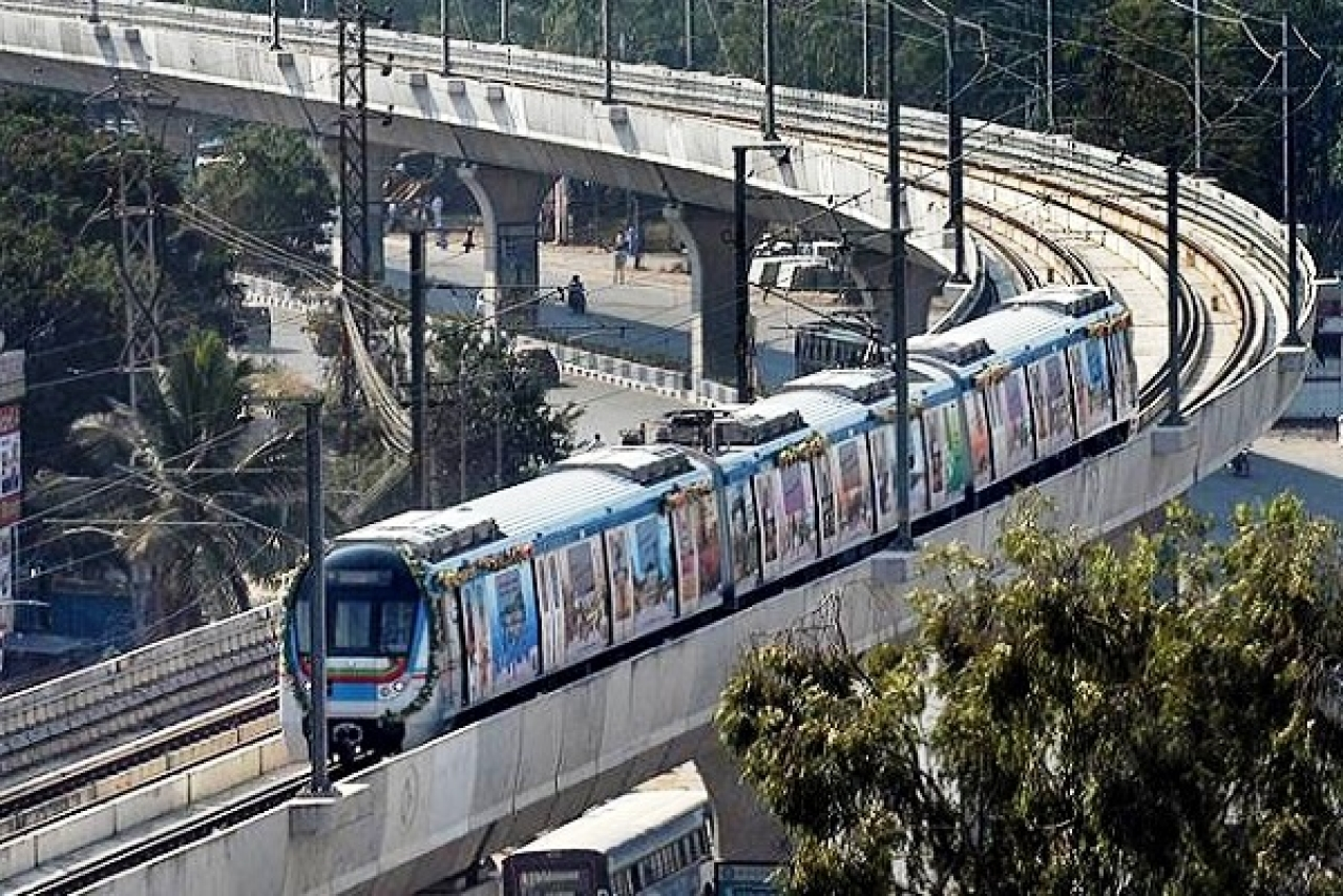 Hyderabad Metro: Construction Of Pillars For The Entire Network Completed