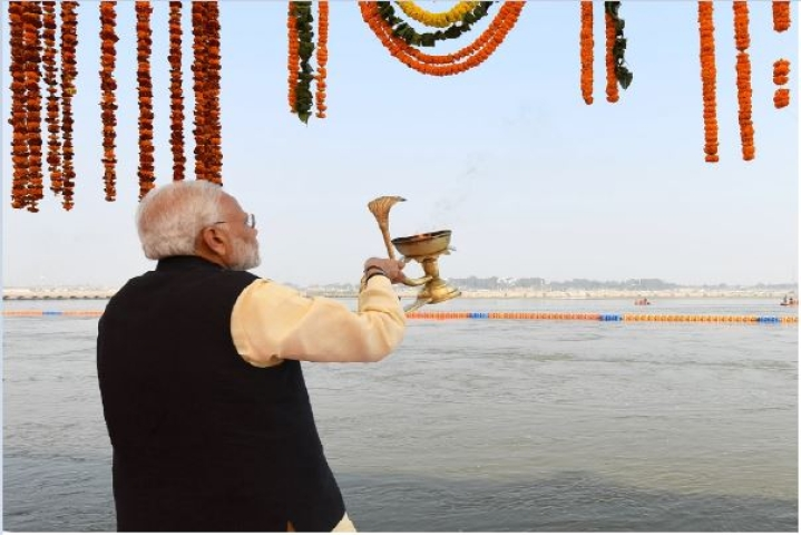 Ganga Freed From Carrying 7.8 Crore Litre Sewage Per Day, PM Inaugurates 175 Km Sewerage Network In Prayagraj