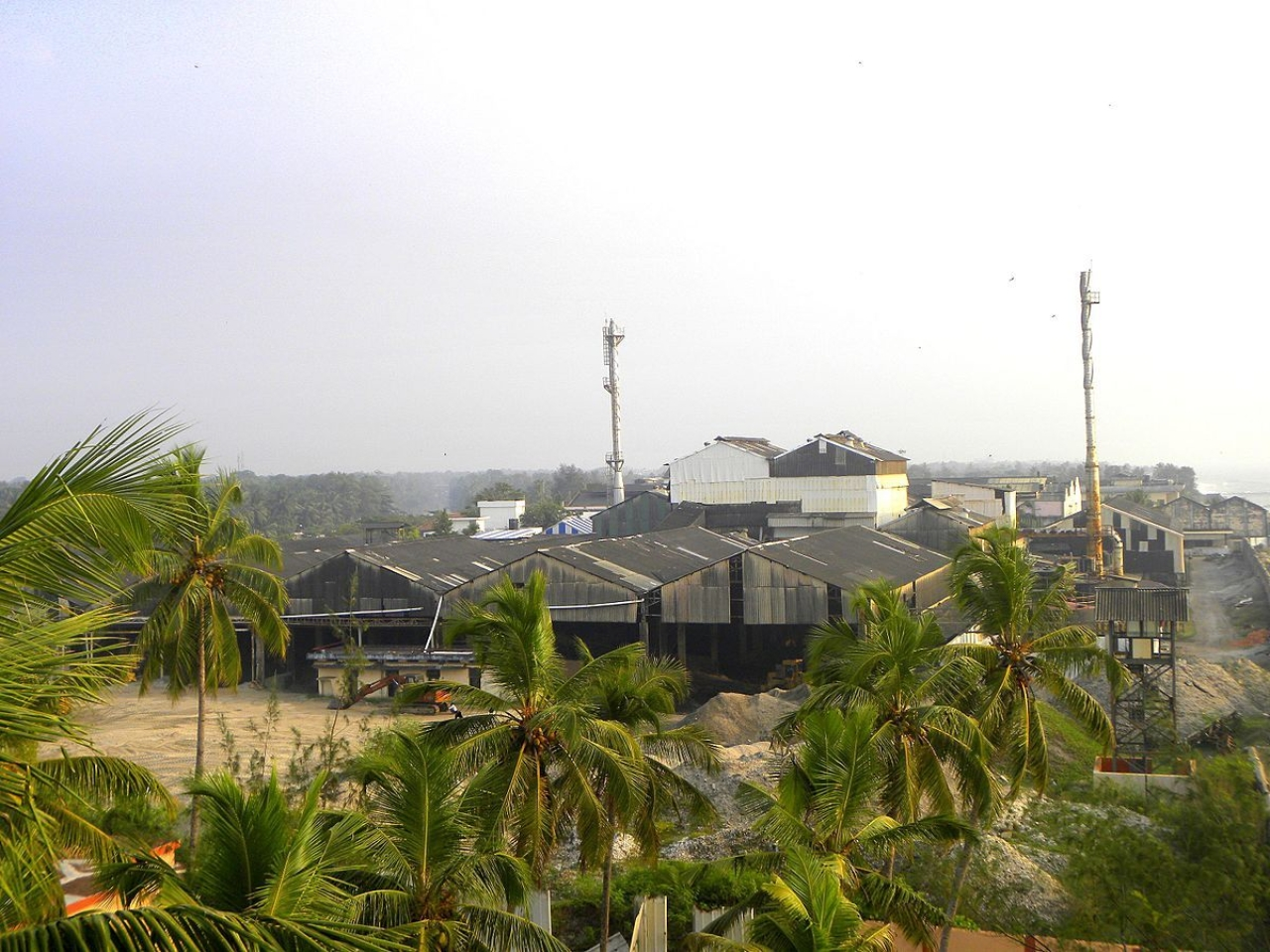 The government-owned Indian Rare Earths Limited premises.