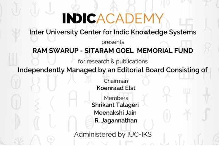 Indic Academy Announces Ram Swarup-Sitaram Goel Memorial Fund  To Promote Research In Indic History, Culture And Religion