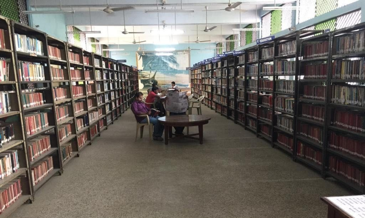 A view of the district central library on Cowly Brown Road in Coimbatore's popular R S Puram locality