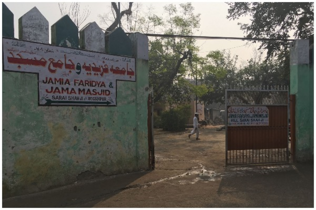 Entrance of the mosque in south Delhi's Begumpur (Swarajya)