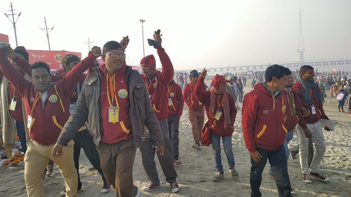'Working Late Into The Night': Swachhta Doots Go Beyond Call Of Duty To Ensure Clean Kumbh