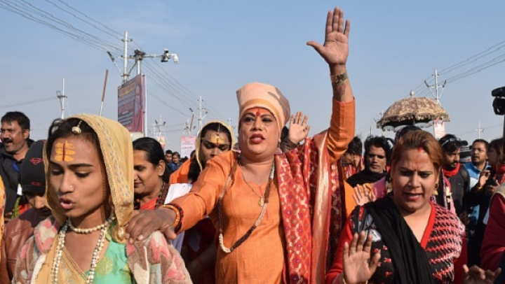 In A Historic First, Members Of Transgender 'Kinnar Akhara' Take Holy Dip At Kumbh In Prayagraj