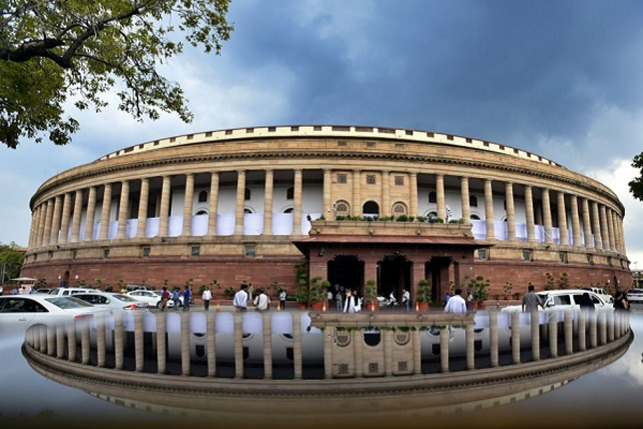 Parliament building, New Delhi. (Raj K Raj/Hindustan Times via Getty Images)