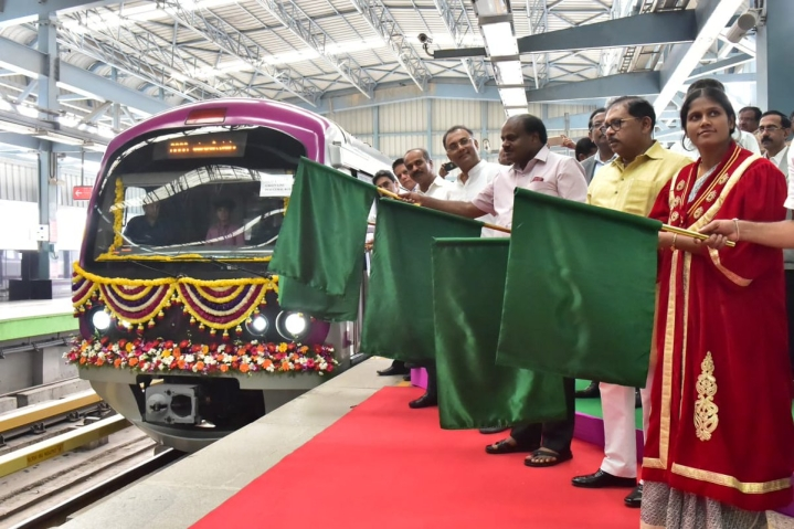 Bengaluru: Namma Metro's First Six-Car Metro Rake Flagged Off On Green Line Connecting Yelachenahalli–Nagasandra