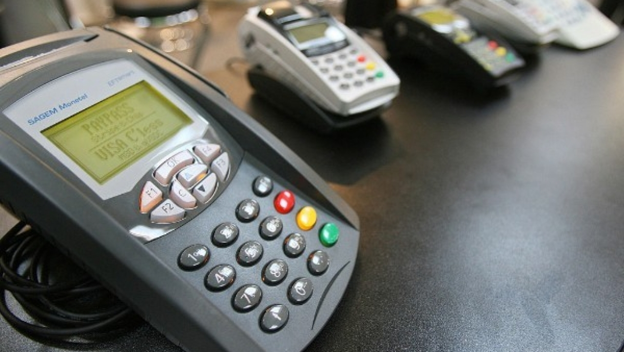 Card payment terminals (JOHN MACDOUGALL/AFP/GettyImages)