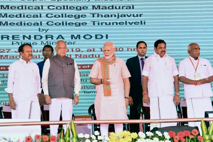 PM Lays Foundation Stone For An AIIMS In Madurai; Says He's Happy That State Has Embraced Ayushman Bharat