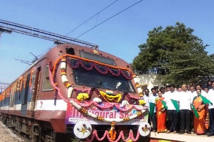Bengaluru: Boost To Suburban Rail Connectivity Between Whitefield-Banaswadi; DEMU Special Train Flagged Off