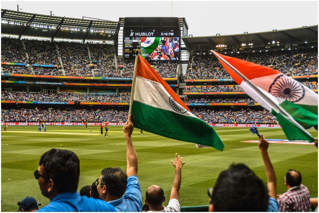 Indian cricket team supporters (Rajiv Bhuttan/Wikimedia Commons)