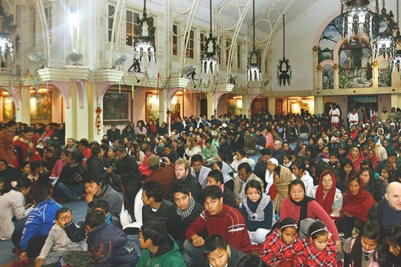 Christians in a Nepali church.  (Anna Keating)