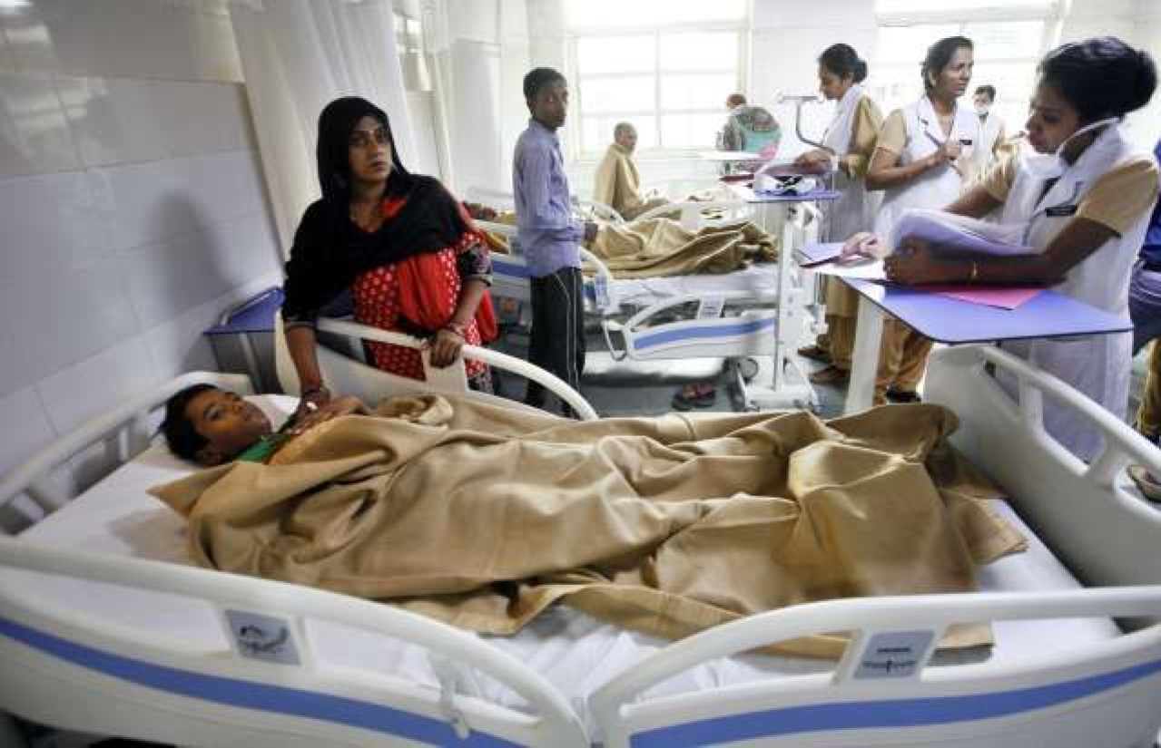 A super-specialty hospital in New Delhi. (Arun Sharma/Hindustan Times via GettyImages)