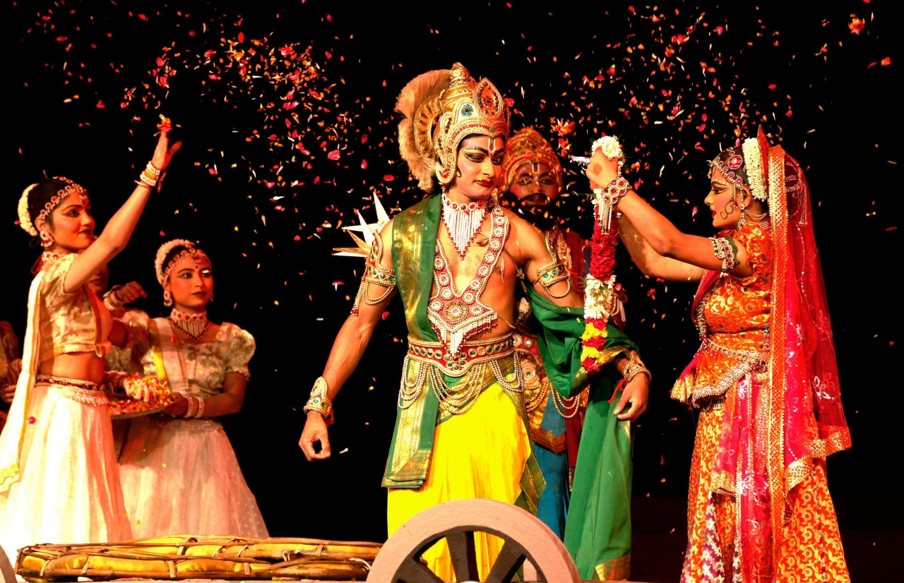 Shir Ram Kala Kendra presents Ramayana dance drama in New Delhi. (Raj K Raj/Hindustan Times via GettyImages)